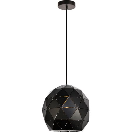 Pendants 1 Light Fixtures With Black Finish Iron Material E26 Bulb 12