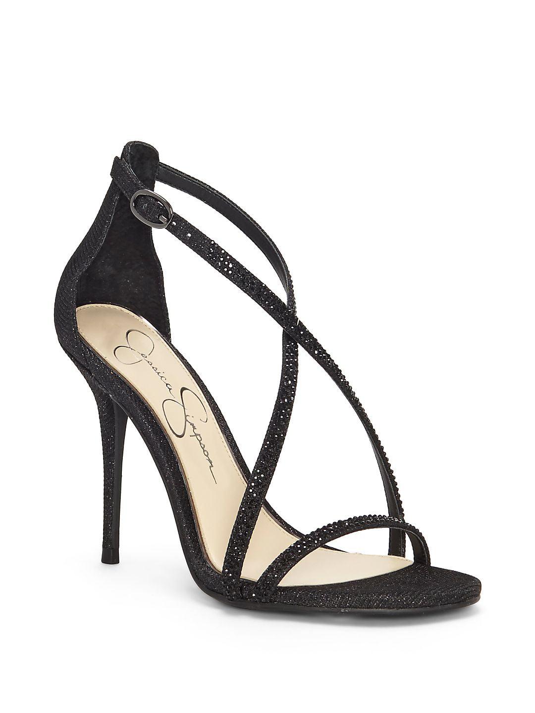 Annalesse Crisscross-Strap Stiletto Sandals