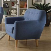 ACME Ngaio Mid-Century Chair, Blue Linen