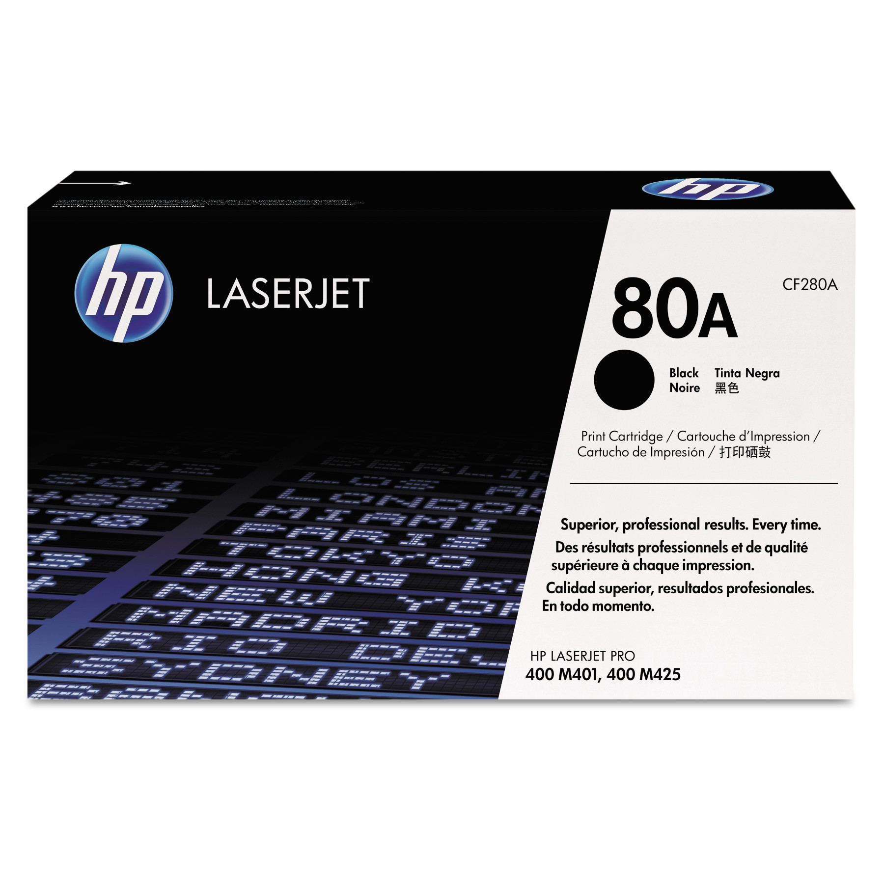 HP 80A, (CF280A) Black Original LaserJet Toner Cartridge -HEWCF280A