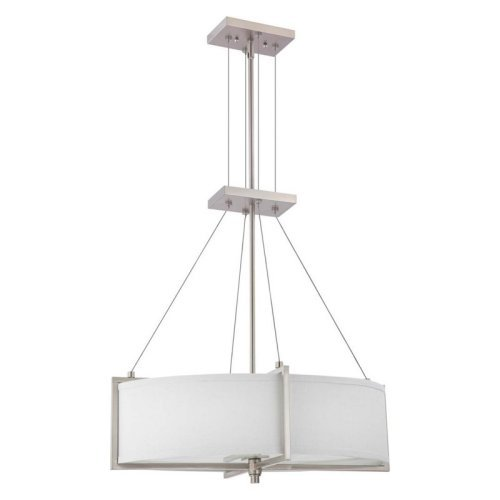 Nuvo Portia 60/4345 4-Light Oval Pendant - 16W in. - Brushed Nickel - ENERGY STAR