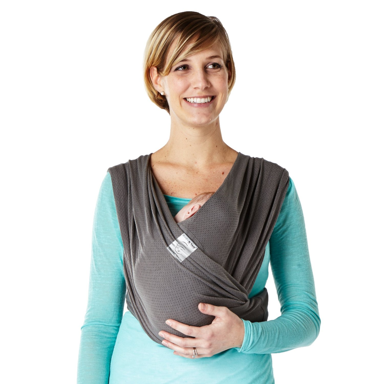 Baby K'tan Breeze Baby Carrier M Charcoal by Baby K%27Tan