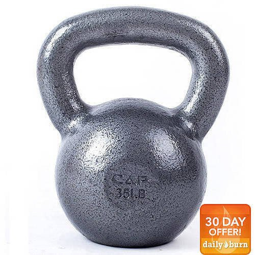 CAP Barbell Cast Iron Kettlebell, Grey (25lbs - 35lbs)
