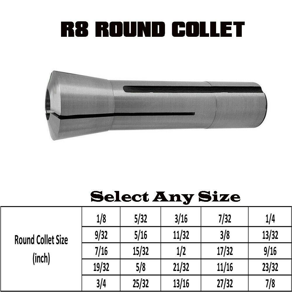 "20 Hardened 7//16 Inch Precision R8 Round Collet Drawbar Thread 7//16/"""
