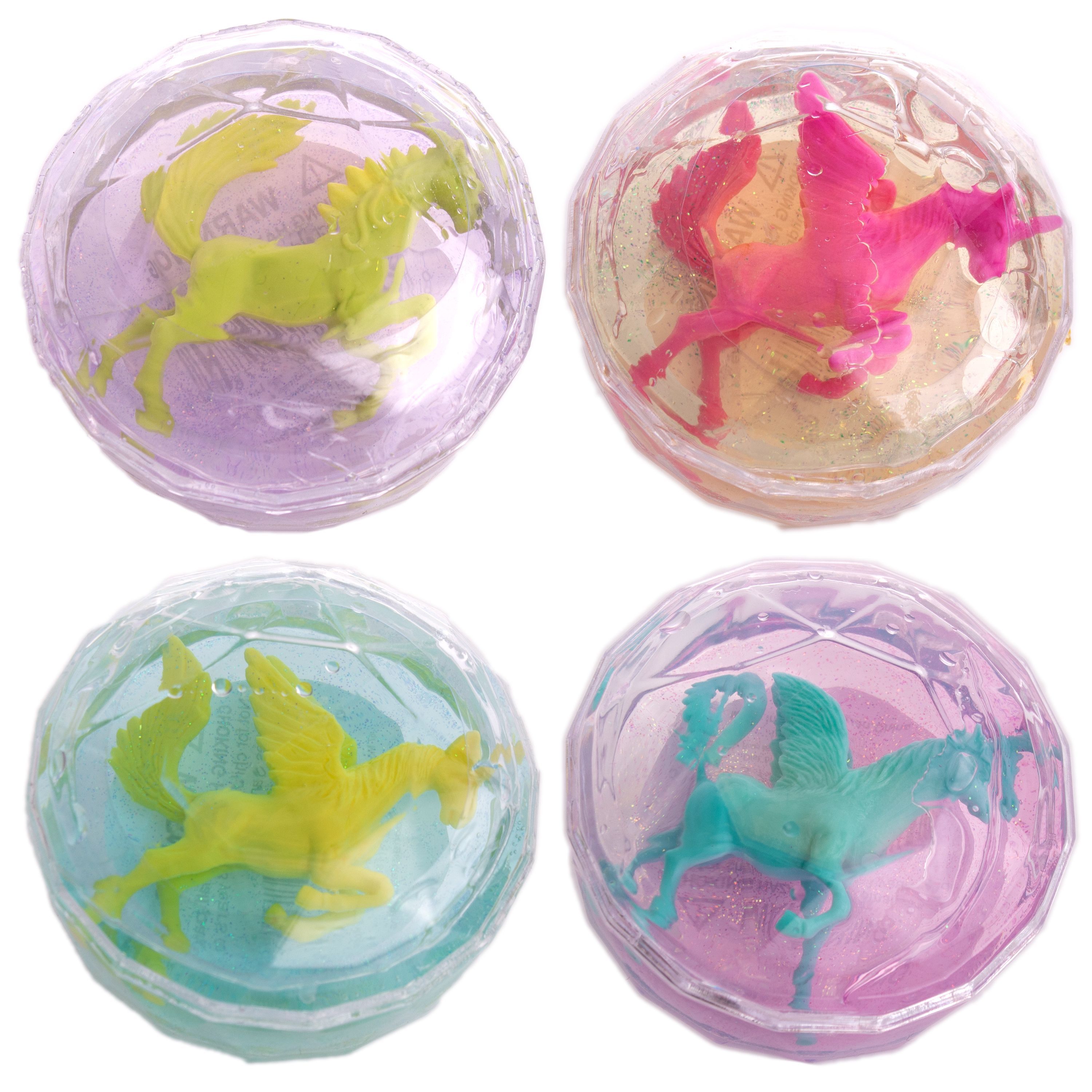 """Unicorn Glitter Putty Slime Collectible 2.5"""" Novelty Toy, Assorted, 24 Pack"""