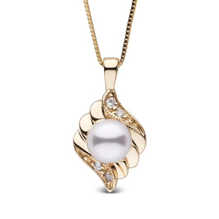 Julep Collection Akoya Pearl and Diamond Pendant (Julep Birthstone Collection)