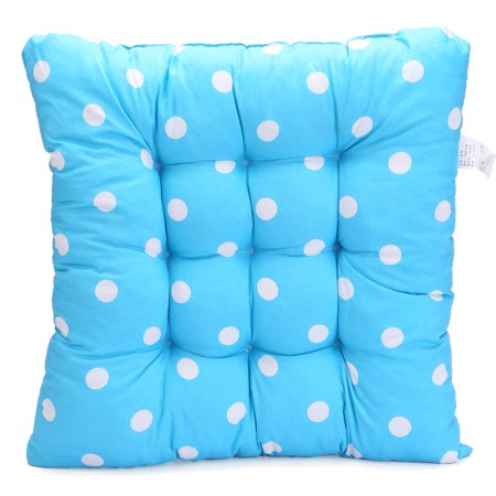 TKOOFN Square Polka Dot Seat Cushion Home Office Travel Trip Soft Chair Cushion Pad