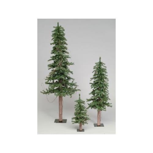 7' Artificial Alpine Christmas Tree with Pine Cones and Vines - Unlit