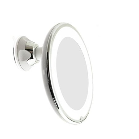 Jiben Led Lighted 5x Magnifying Makeup Mirror With Power
