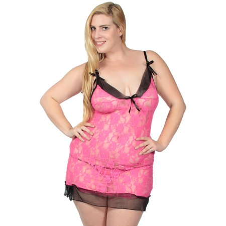 Womens Sexy Floral Lace Babydoll Baby Doll Flower Chemise Lingerie Nightie - Baby Doll Lingure