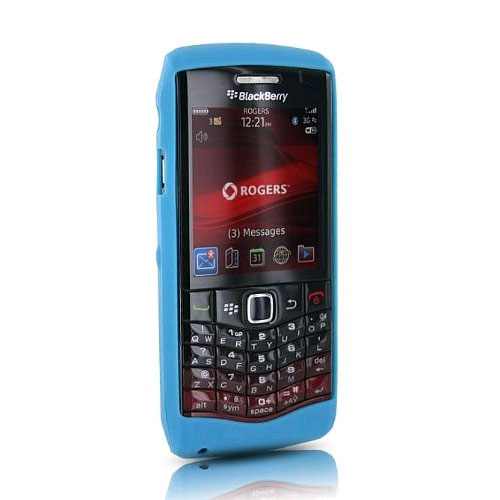 OEM Blackberry Silicone Skin Case for Blackberry 9100 3G, 9105 - Turquoise Wonka