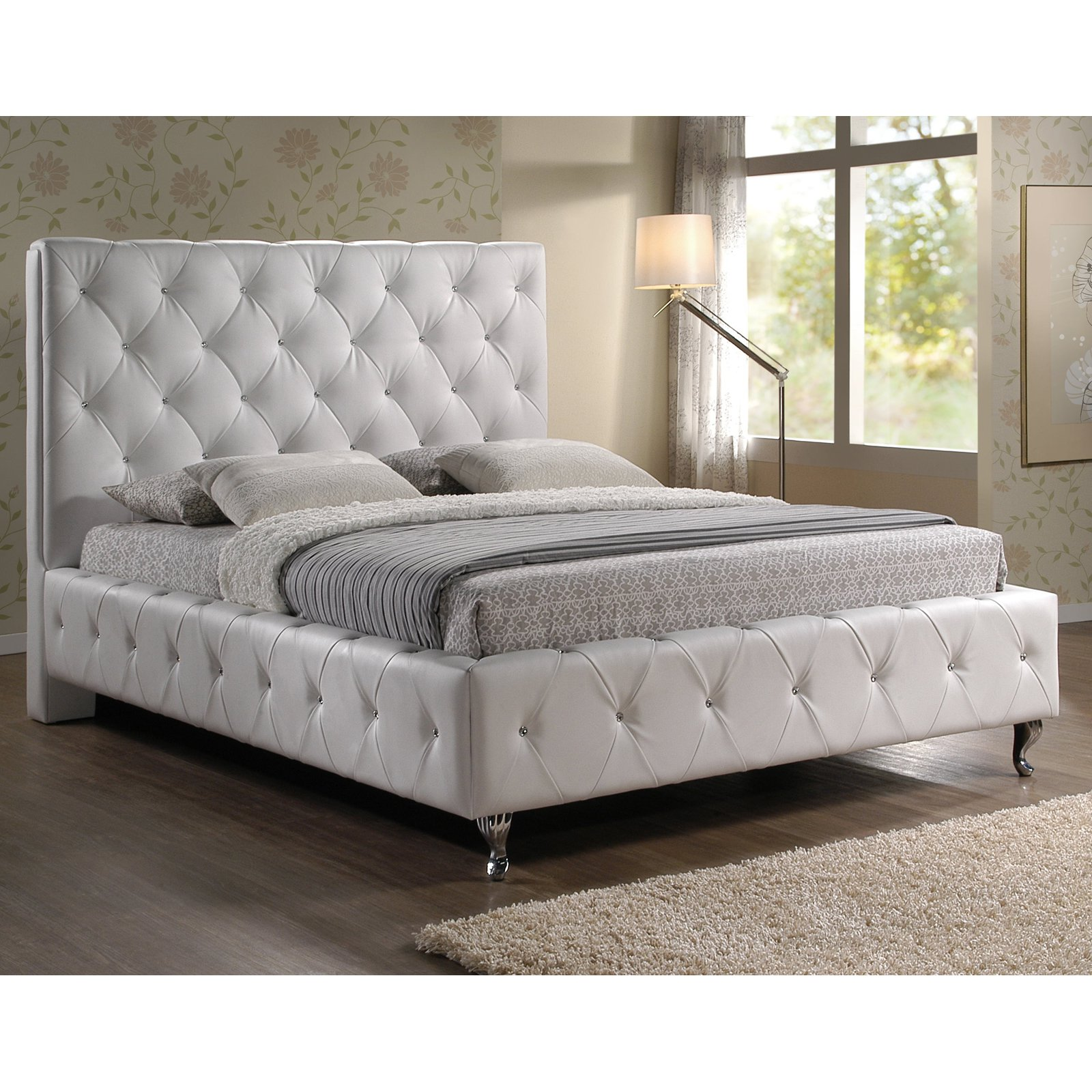 Baxton Studio Stella Upholstered Platform Bed, Multiple Sizes