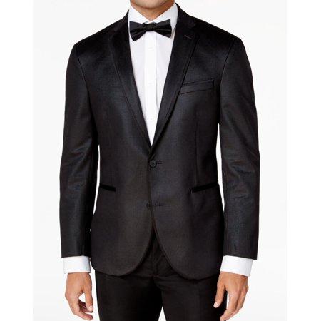 Kenneth Cole Two Button Blazer (Mens 44S Check Slim Fit Two Button Blazer 44)