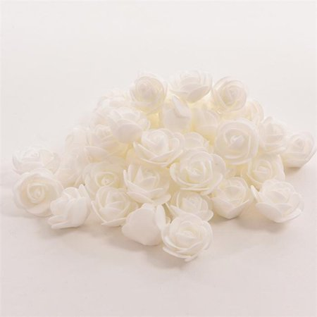 50 PCS Mini PE Foam Rose Artificial Flowers For Wedding Car Decoration DIY Pompom Wreath Decorative Valentine's day Fake Flowers - Dark Red Face