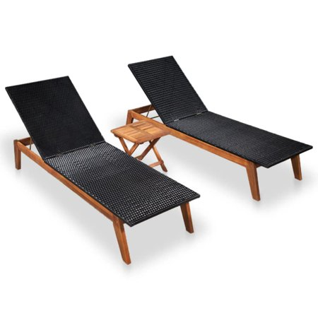 Fine Adjustable Chaise Lounge Chair Set Double Sun Bed With Side Table Wood And Textilene Deck Chair Recliner Garden Beach Chair Patio Pool Sauna Furniture Machost Co Dining Chair Design Ideas Machostcouk