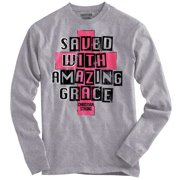 Amazing Grace Christian Shirt | Jesus Christ Savior God Bible Long Sleeve Tee