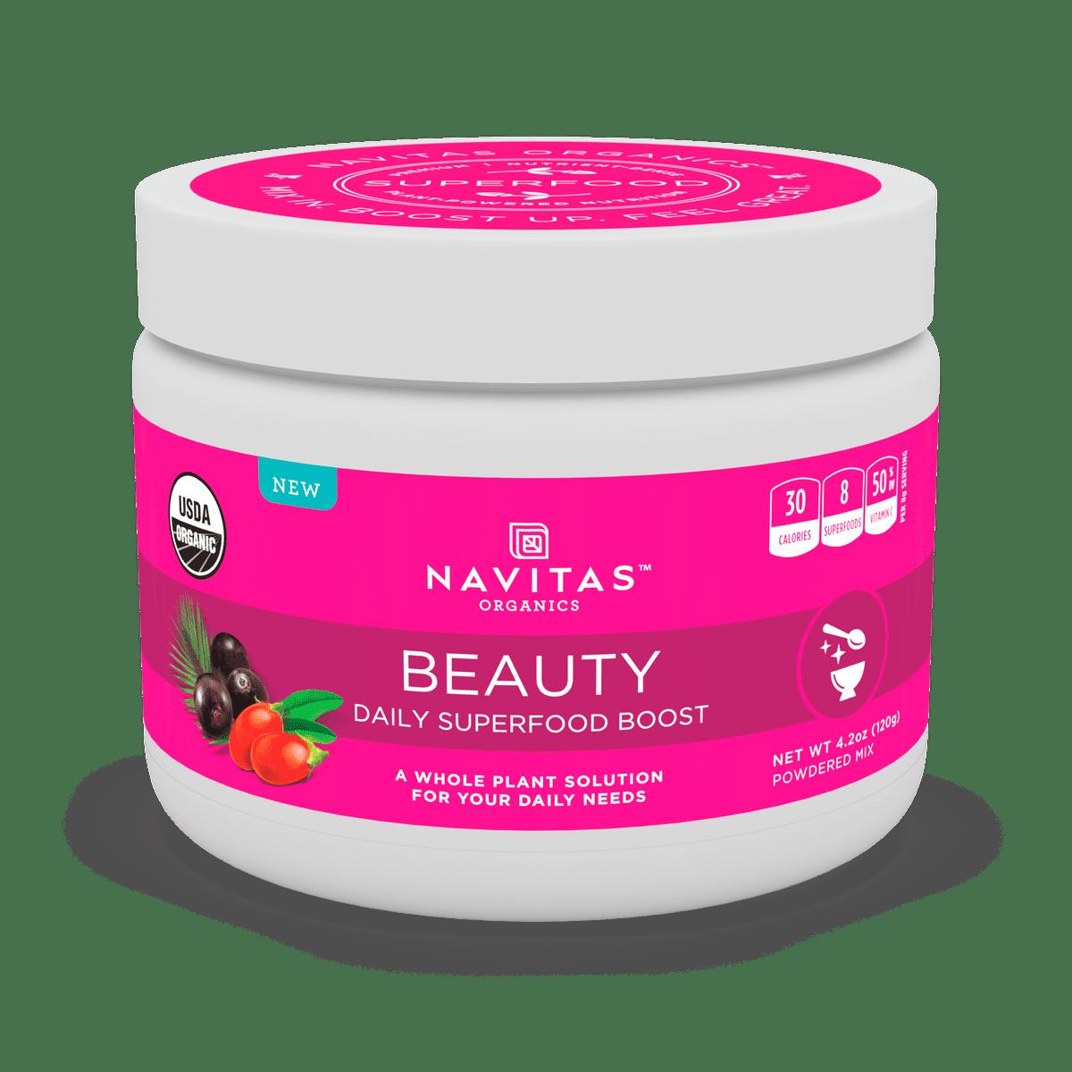 Navitas Organics Daily Beauty Superfood Powder, 4.2 Oz, 15 Servings