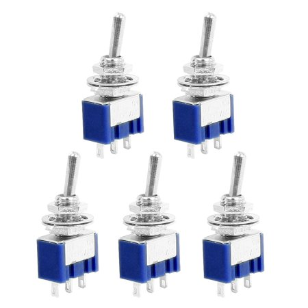 5 Pcs DPDT ON-ON 3 Pin Panel Mounting  Toggle Switch  125V 6A ()