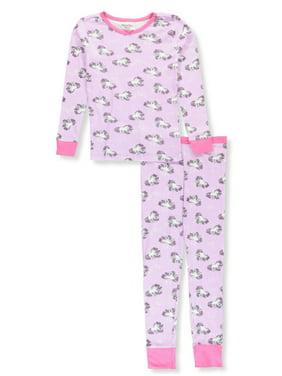 Hartstrings Girls' Rainbow-Haired Unicorn 2-Piece Pajamas