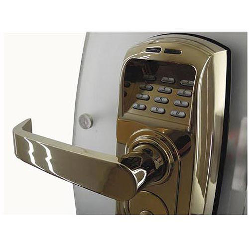 Image of ReliTouch Polished Brass Biometric Handle Lock
