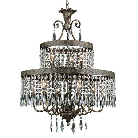 Bel Air Lighting Reagan 30 9 Light 2 Tier Dark Bronze And Gold Chandelier