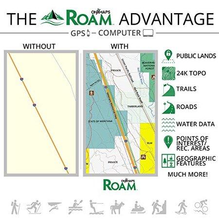 Roam By Onxmaps   2015 Rockies North 24K Topo Maps For Garmin Gps  Recreational Outdoor Adventure Map   Covers Montana Idaho Wyo