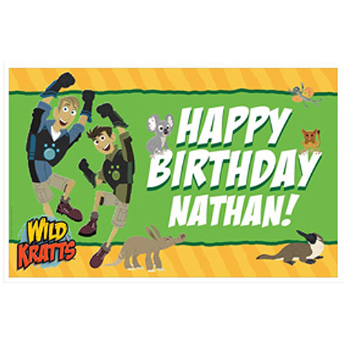 Personalized Wild Kratts Birthday Adventure Placemat