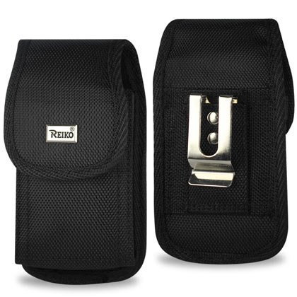 Rugged Heavy Duty Nylon Canvas Protective Cell Phone Case Pouch (with belt clip) for HTC Evo/HD2/Inspire/Thunderbolt, 2-piece design (faceplate & back cover) By Reiko,USA