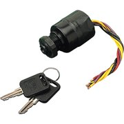 Sea Dog 3-Position Ignition Switch, Magneto Style, Short Shaft, Off-Ignition-Start-Chock, 6 Wires