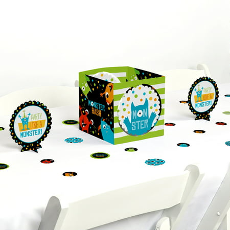 Monster Bash - Little Monster Birthday Party or Baby Shower Centerpiece & Table Decoration Kit - Monster High Birthday Party Games