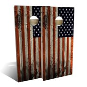 American Flag Distressed Cornhole Board Set - Choose Your Size & Accessories