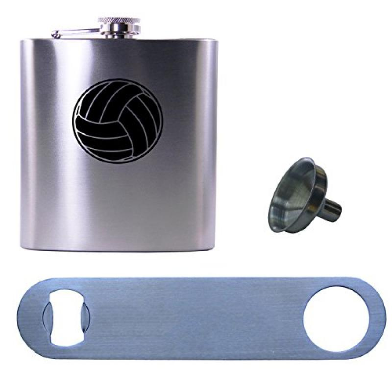 Personalized Engraved Volleyball Sports 6 Ounce Stainless...