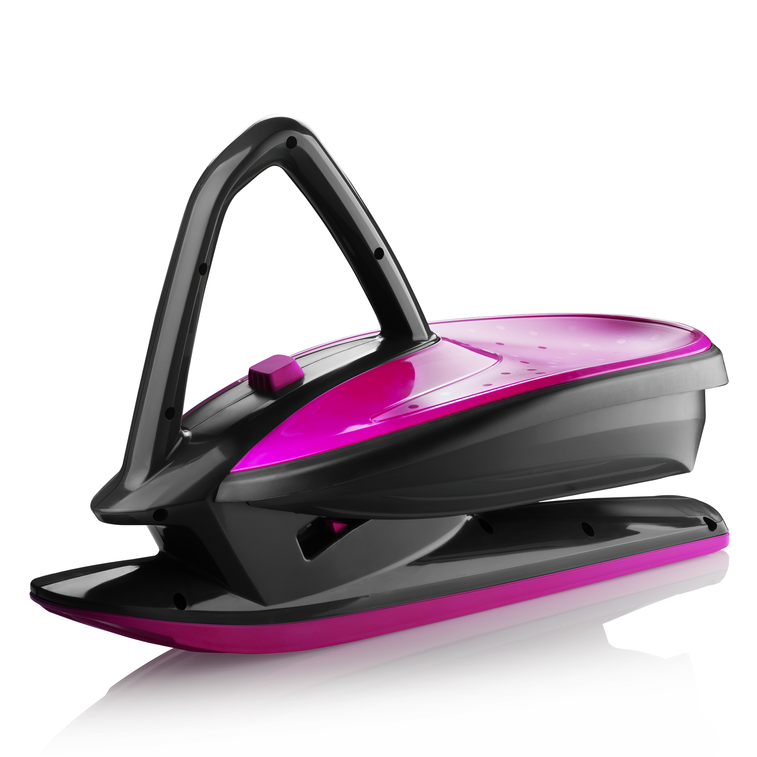 Skidrifter Slope Racer Ski Sled for Kids and Adults with Manual Stability Program Button by Gizmo Riders Monster Pink by Plastkon