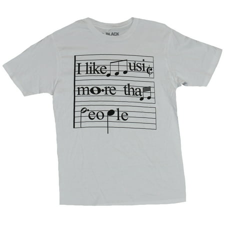 4dbdc99f IN MY PARENTS BASEMENT - I Like Music More Than People Mens T-Shirt - Word  Note Images - Walmart.com