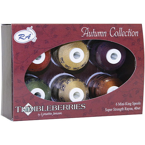 American & Efird Thimbleberries Rayon Collections Mini-King Spools, 6/Pkg, 1100yd