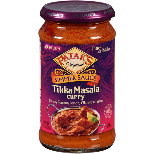Patak's Tikka Masala Curry Simmer Sauce, 15 oz, (Pack of 6)