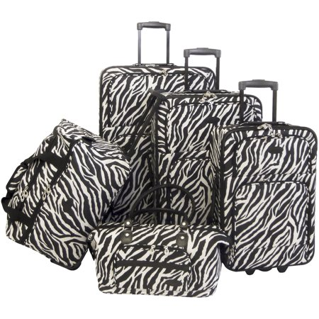 AF 5P Luggage Set Zebra Black