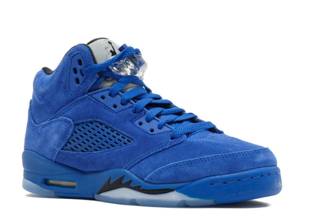 3b84d9341eb2 Air Jordan 5 Retro Bg (Gs)  Blue Suede  - 440888-401 - Size 5
