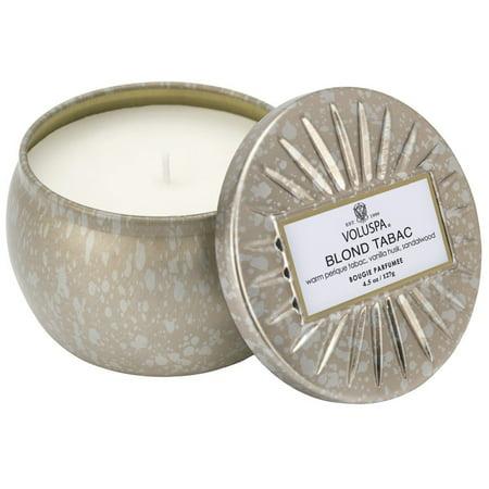 Voluspa Decorative Tin Candle - Voluspa Vermeil Blond Tabac Petite Decorative Tin Candle 4.5oz