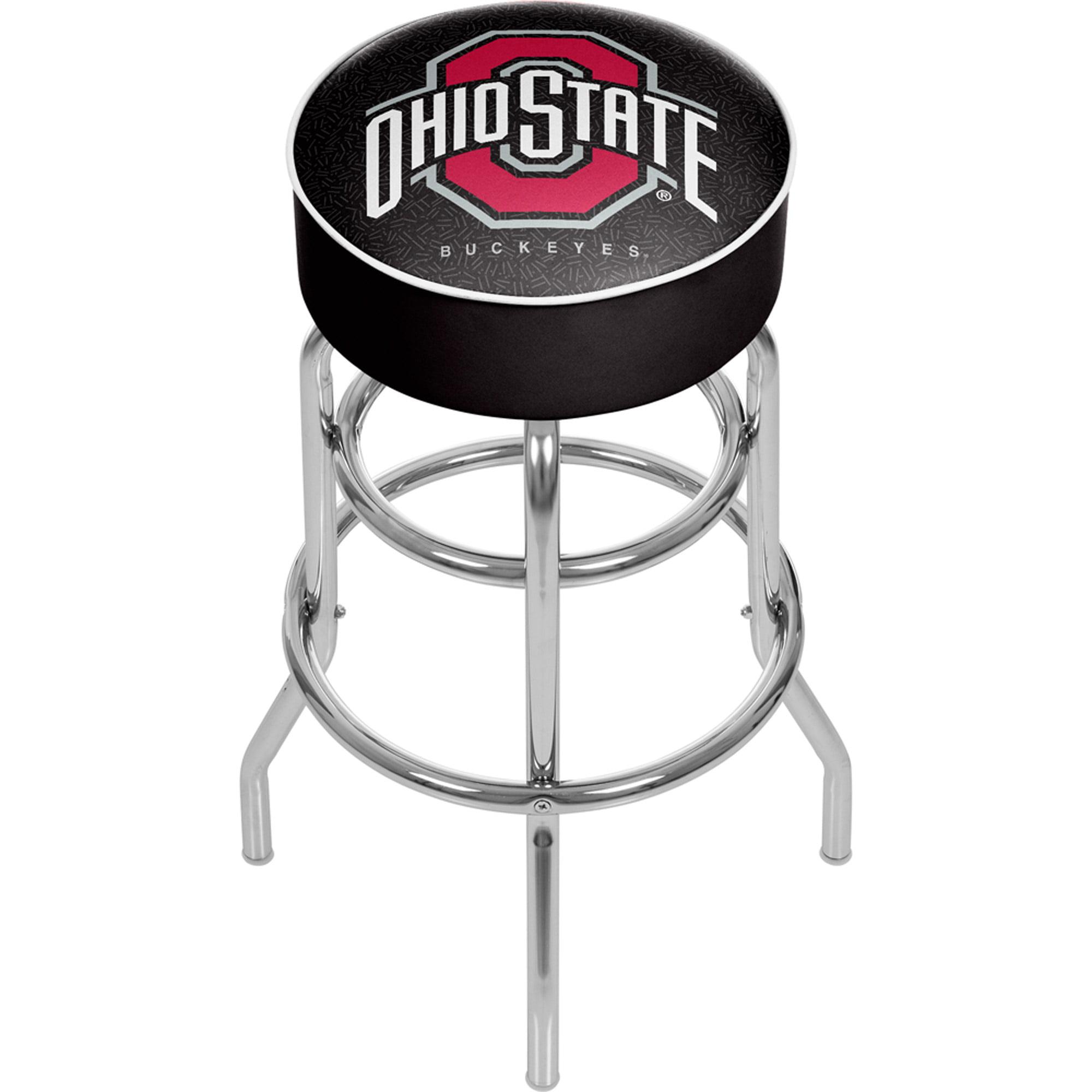 "Trademark Global Ohio State University Logo 30"" Padded Bar Stool, Black"