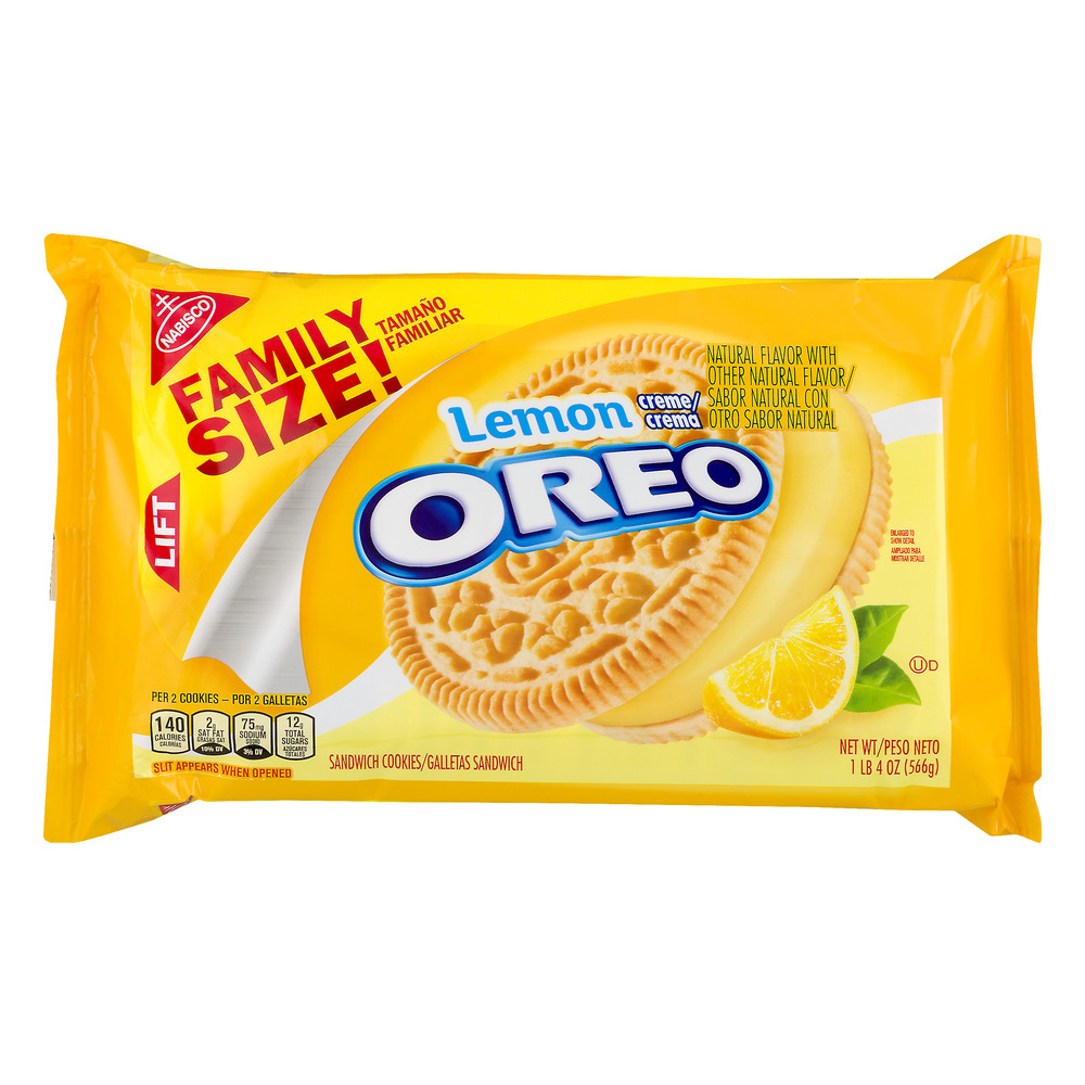 Lemon Oreo Family Size, 20 oz