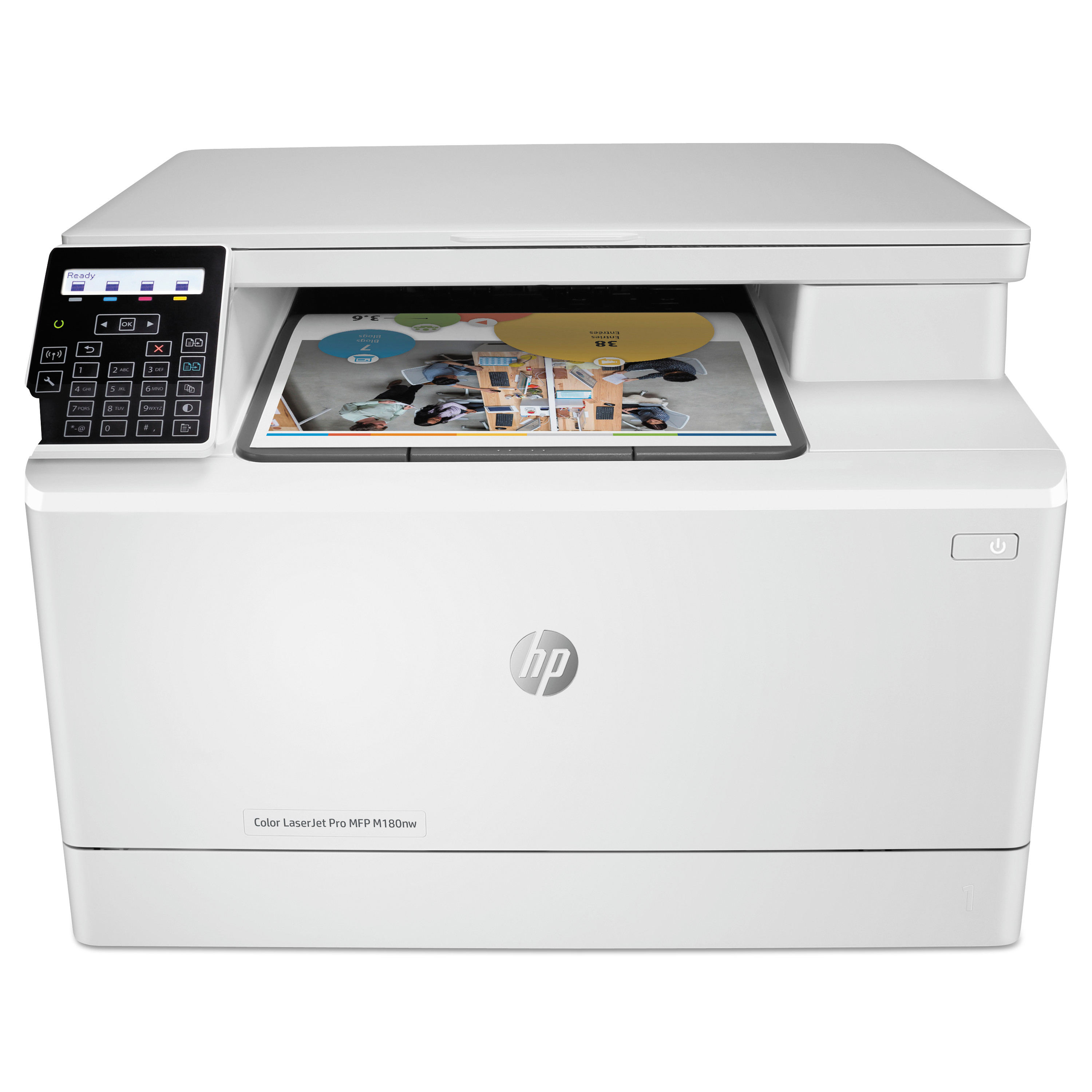 HP Color LaserJet Pro MFP M180nw Multifunction Laser Printer, Copy/Print/Scan