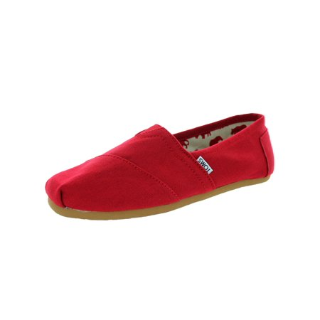 TOMS MENS CANVAS CLASSIC ALPRG STYLE: 001001A07-Red Canvas SIZE: 13](Size Chart For Toms)
