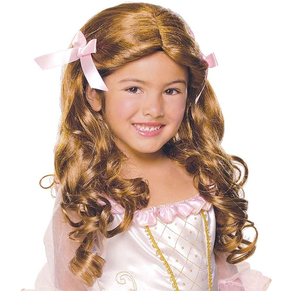 New Child Gracious Princess Maiden Brown Brunette Wig