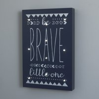Little Love by NoJo Navy and White Aztec Be Brave Lighted Wall Décor