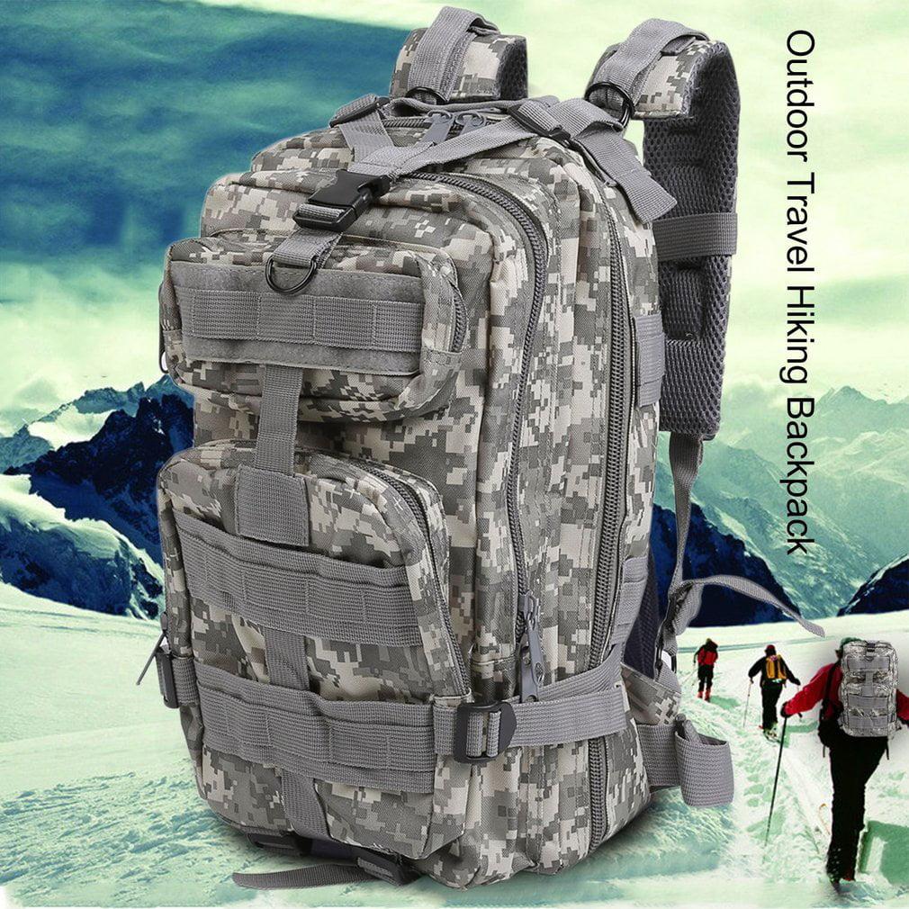 Men Canvas Backpack Camping Travel Hiking Bag Sports Rucksack Schoolbag by