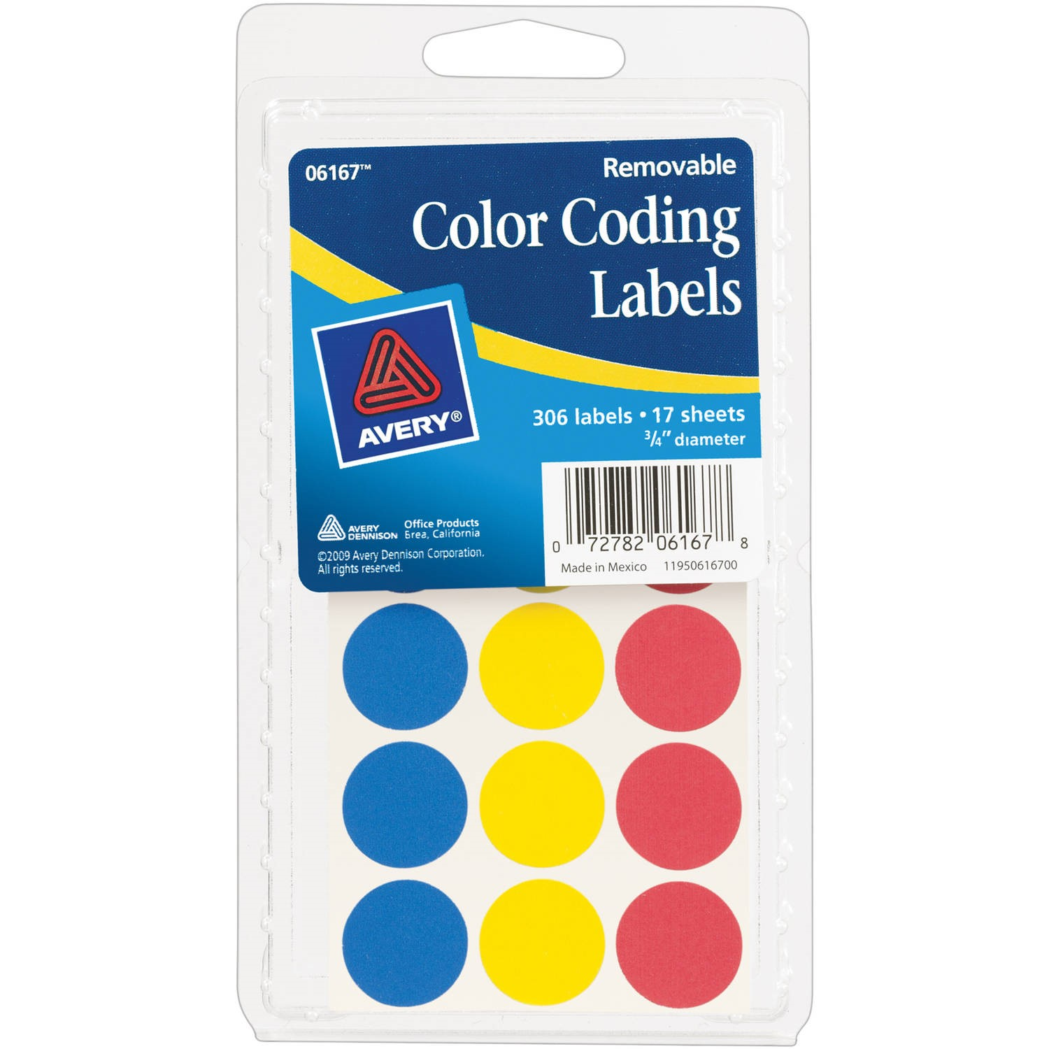 "(2 Pack) Avery Assorted Color-Coding Labels 6167, 3/4"" Round, Pack of 315"