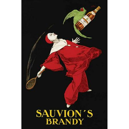 Cappiello Sauvion's Brandy Vintage Advertising Art Print