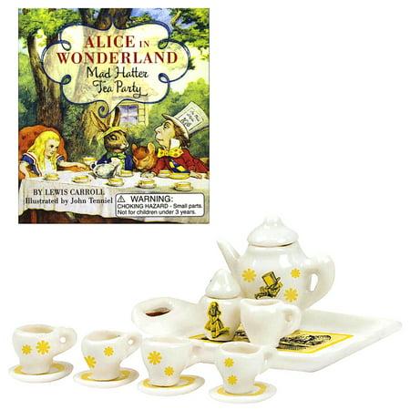 Alice in Wonderland Ceramic Mad Hatter Tea Party Miniature Deluxe Mega Kit