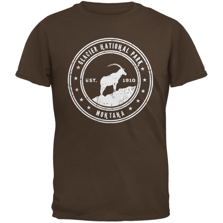 Glacier National Park Brown Adult T-Shirt